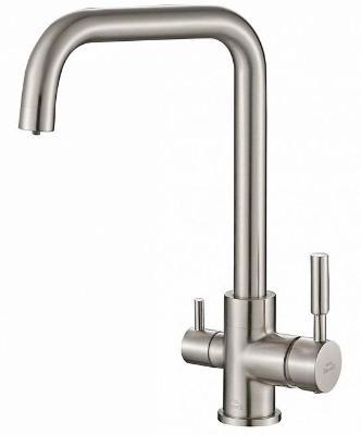 Смеситель для кухни ZorG Steel Hammer SH 715 сатин