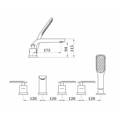 Ganzer Haiger GZ 52031С (черный/хром)