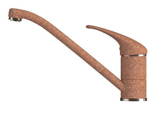 Смеситель Polygran Эко 0200э №307 с низким изливом, теракотовый