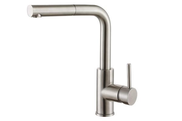 Смеситель ZorG Steel Hammer SH 6003 нержавейка
