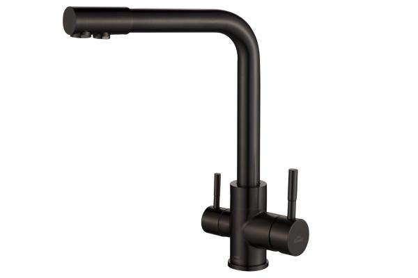 Смеситель ZorG Steel Hammer SH 801 INOX GRAFIT PVD
