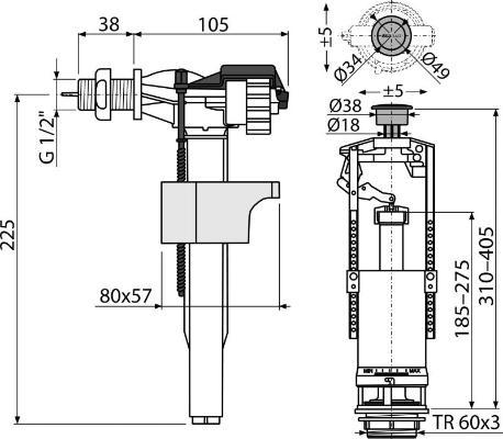 Alcaplast SA2000K-1/2