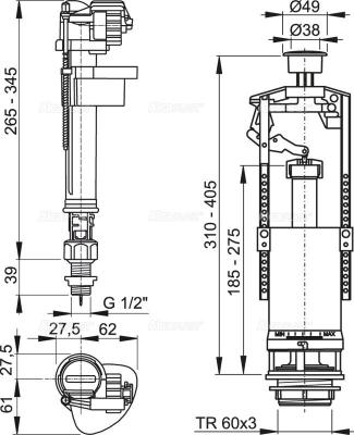 Alcaplast SA2000SK 1/2