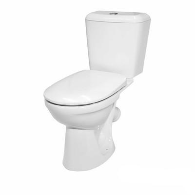 Унитаз Керамин Сити с сиденьем и арматурой Алкапласт Гранд белый