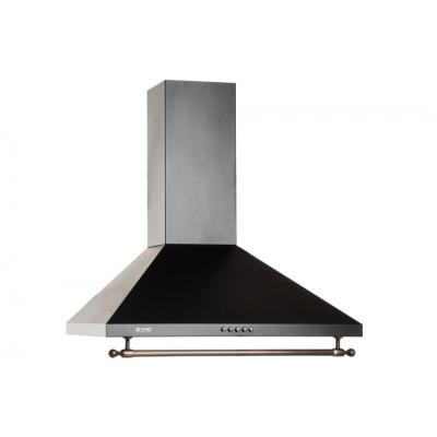 Кухонная вытяжка ZorG Technology Allegro B 750 60 черная+релинг бронза